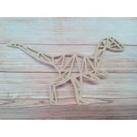 Geometric T Rex Dinosaur 4mm MDF